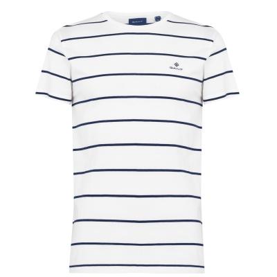 Tricou Gant Bret cu dungi alb