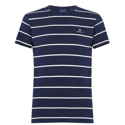 Tricou Gant Bret cu dungi bleumarin
