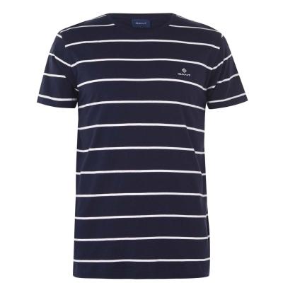 Tricou Gant cu dungi bleumarin