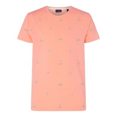 Tricou Gant cu imprimeu roz