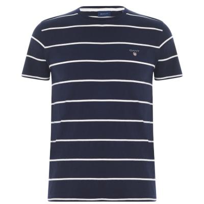 Tricou Gant Gant Short cu dungi pe maneci pentru Barbati albastru