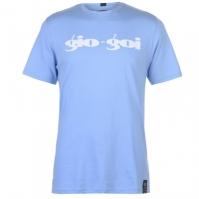 Tricou Gio Goi Print albastru