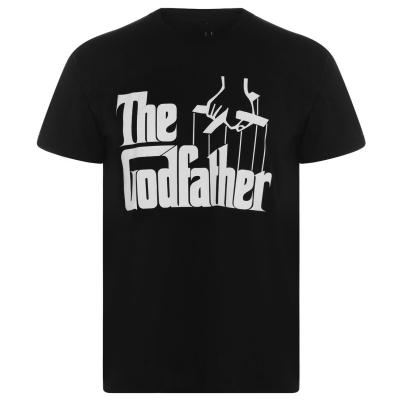 Tricou Godfather pentru Barbati cu personaje negru