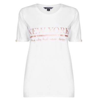 Tricou Golddigga cu guler rotund pentru Femei alb