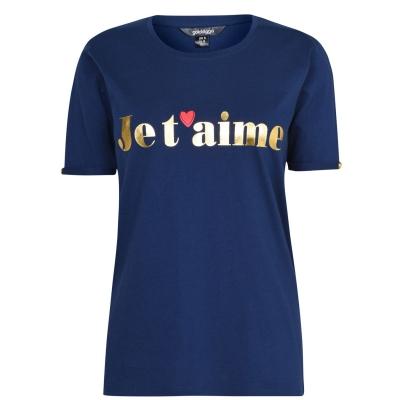 Tricou Golddigga cu guler rotund pentru Femei bleumarin