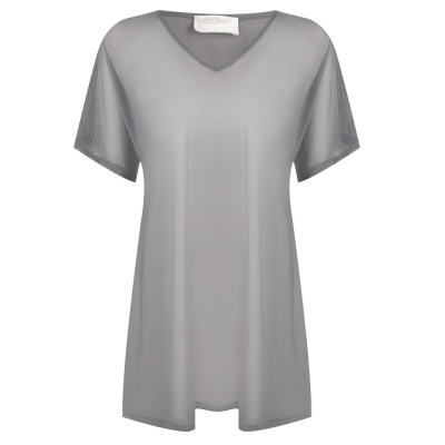 Tricou Golddigga plasa Cover Up pentru Femei gri