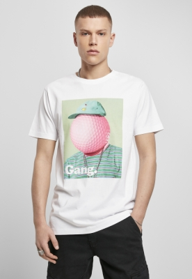 Tricou Golf Gang alb Mister Tee