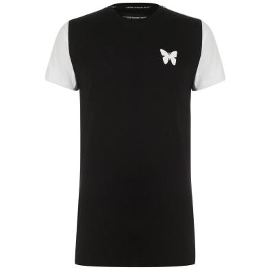Tricou Good For Nothing Transition Raglan pentru Barbati negru rosu alb
