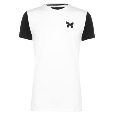 Tricou Good For Nothing Transition Raglan pentru Barbati alb negru rosu