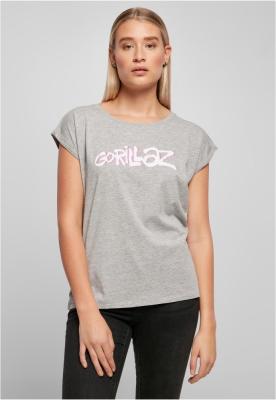 Tricou Gorillaz Logo pentru Femei gri-deschis Merchcode