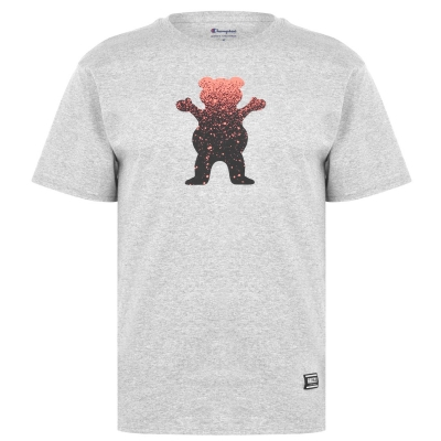 Tricou Grizzly Bear Fade gri