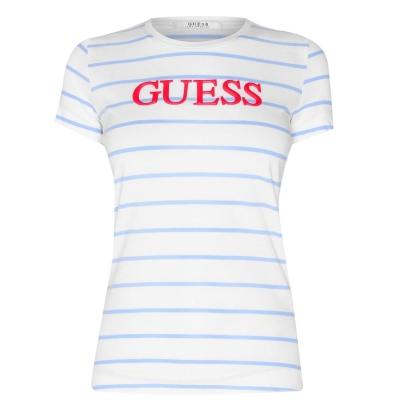 Tricou Guess Laquard alb albastru