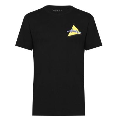 Tricou Guess So Clean jet negru
