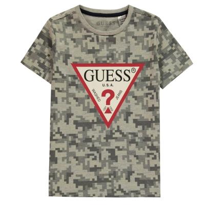 Tricou Guess Triangle pentru baieti gri fp49