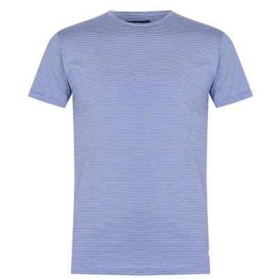 Tricou Hackett Fine cu dungi albastru white5ar