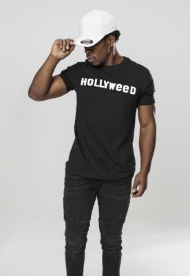 Tricou Hollyweed negru Mister Tee
