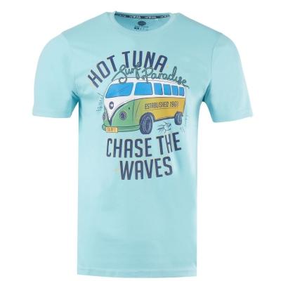 Tricou Hot Tuna Crew pentru Barbati albastru aqua