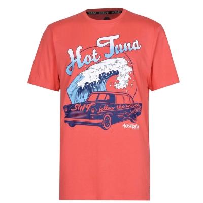 Tricou Hot Tuna Crew pentru Barbati rosu car