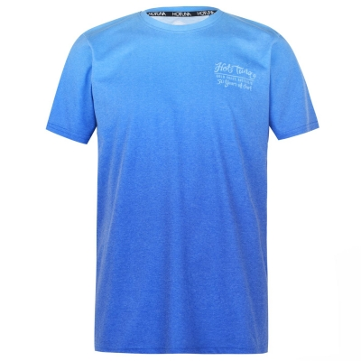 Tricou Hot Tuna Dip Dye pentru Barbati albastru