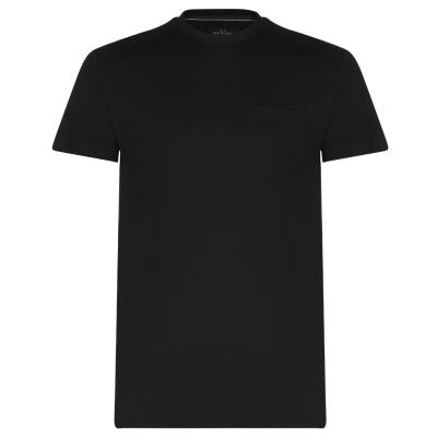 Tricou Howick cu guler rotund negru