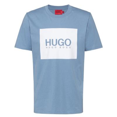 Tricou Hugo Dolive U212 medium albastru