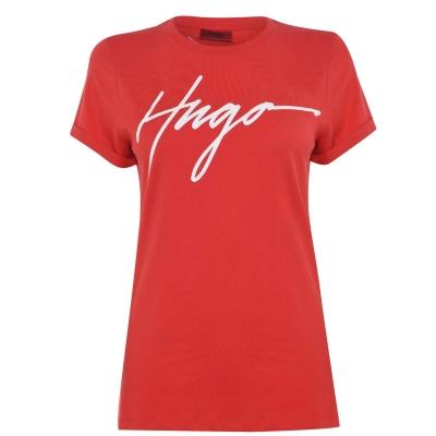 Tricou Hugo The Slim bright rosu