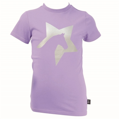 Tricou Hy Fashion Zeddy Glitter pentru fete floral mov