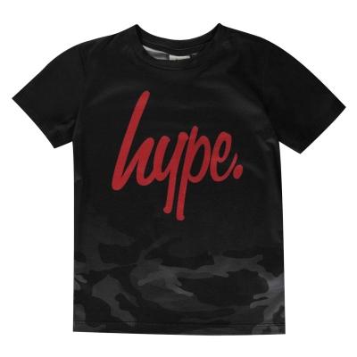 Tricou Hype negru Camo Fade pentru Copii