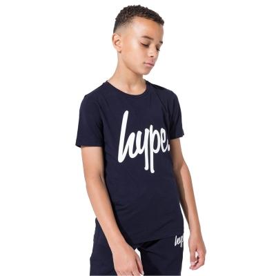 Tricou Hype Script pentru Copii bleumarin