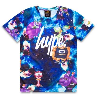 Tricou Hype x Space Jam Retro Print pentru Copii cu personaje multicolor