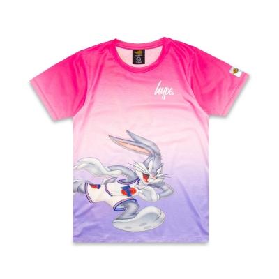 Tricou Hype x Space Jam Retro Print pentru Copii cu personaje roz