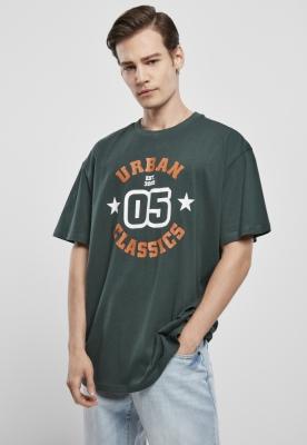 Tricou imprimeu college verde Urban Classics