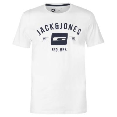 Tricou Jack and Jones Core Corporate pentru Barbati alb