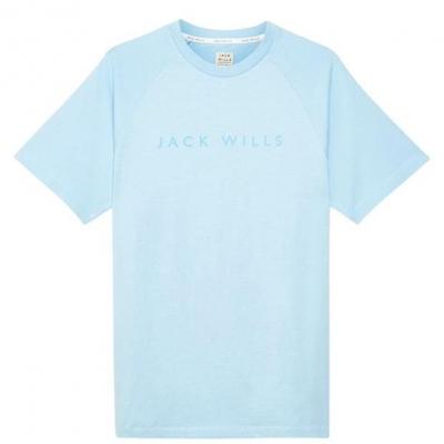 Tricou Jack Wills Chase Military imprimeu Graphic albastru