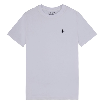 Tricou Jack Wills Sandleford pentru Copii bright alb