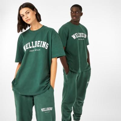 Tricou Jack Wills Unisex Wellbeing inchis verde