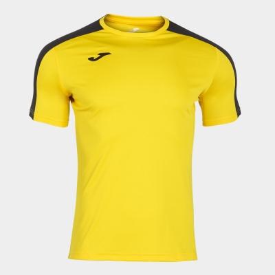 Tricou Joma Academy galben-negru cu maneca scurta
