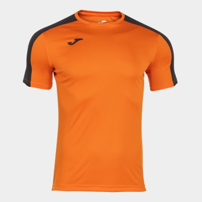Tricou Joma Academy portocaliu-negru cu maneca scurta