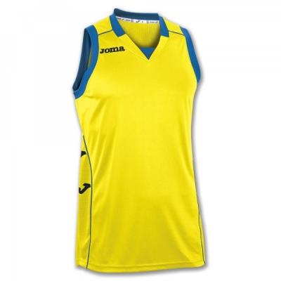 Tricou Joma Cancha II galben-negru fara maneci
