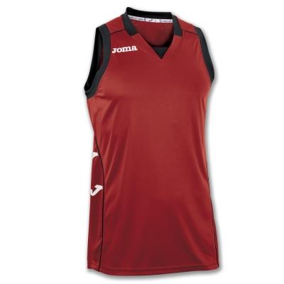 Tricou Joma Cancha II rosu-negru fara maneci