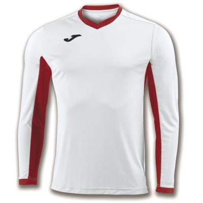 Tricou Joma Champion Iv alb-rosu cu maneca lunga