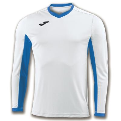 Tricou Joma Champion Iv alb-royal cu maneca lunga albastru roial