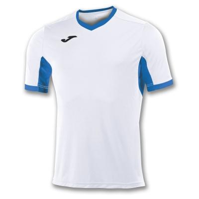 Tricou Joma Champion Iv alb-royal cu maneca scurta albastru roial