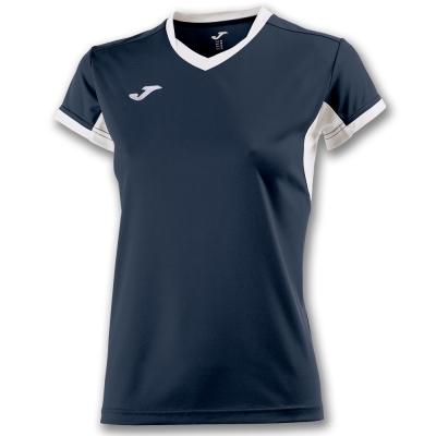 Tricouri sport Joma T- Champion Iv bleumarin-alb cu maneca scurta pentru Femei