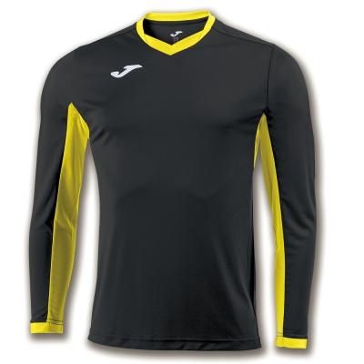 Tricou Joma Champion Iv negru-galben cu maneca lunga