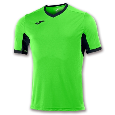 Tricou Joma Champion Iv Lime-negru cu maneca scurta verde