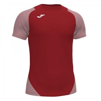 Tricou Joma Essential II rosu-alb cu maneca scurta