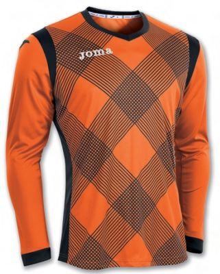 Tricou portar Joma Derby Orange-negru cu maneca lunga