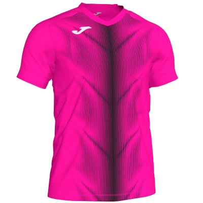 Tricou Joma Olimpia Fluor roz-negru cu maneca scurta