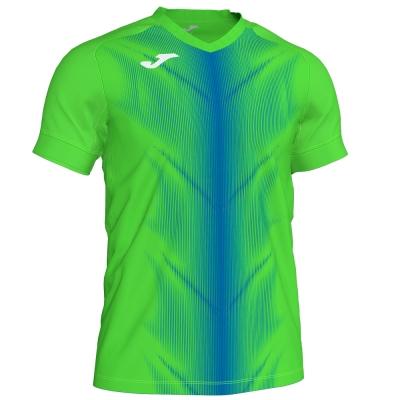 Tricou Joma Olimpia Fluor verde-royal cu maneca scurta